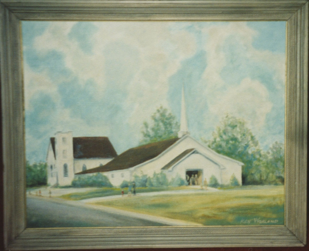 Oakland First Baptist Church painting