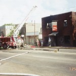 Silver Moon Cafeteria burning 7-25-1999